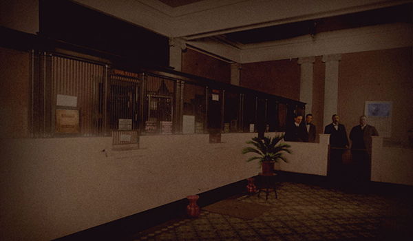 Photo of the inside lobby for a bank